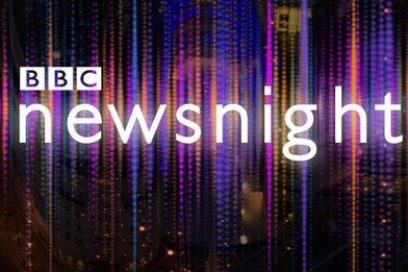 Catch us on BBC Newsnight